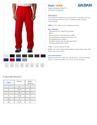 Gildan Size Chart Pants Gildan 18400 Heavy Blend Open Bottom Sweatpants