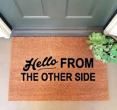 A doormat only an Adele fan could love. ($55; inspirelifetoday.etsy.