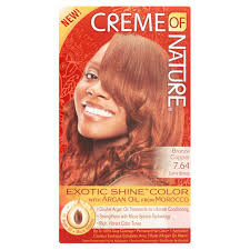 Creme Of Nature Permanent Hair Color Chart Creme Of Nature Exotic Shine Color 7 64 Bronze Copper