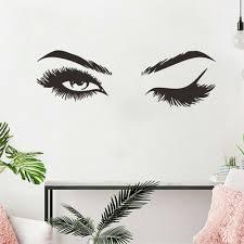 wall decals stickers woman big eye