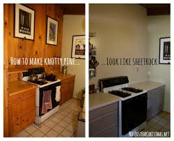 Painting Knotty Pine Cabinets Excellent Kitchen Renovation Updating Knotty Pine Cabinets With