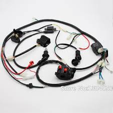 electrical wiring harness wiring diagrams mashups co Wire Harness Adalah full electric start engine wiring harness loom gy6 125 150cc quad bike kandi atv go kart PHP Adalah