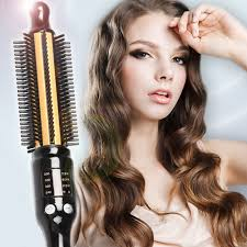 Hair Style Curling ss shiny mini volume curling iron hair styler heating brush from 6126 by wearticles.com