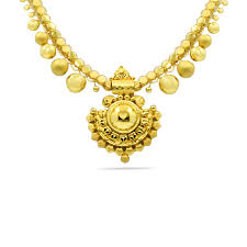 amrapali gold necklace jewellery ping india yellow gold 22k candere by kalyan jewellers