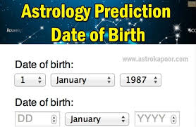 Free Birth Chart Prediction Astrology By Date Of Birth Date Of Birth Dob Astrology