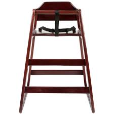 lancaster table seating assembled stacking restaurant wood high chair with dark finish