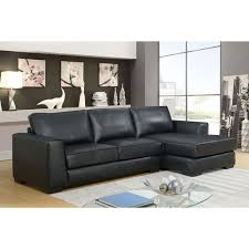 leather sectional sofas. Beautiful Sectional Concise Contemporary 2Piece Genuine Leather Sectional Sofa With  LeftFacing Chaise  Black Online Only Intended Sofas A