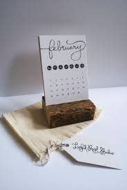 rustic desk calendar with stand typographic by lightruststudio 16 39