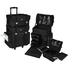 purple professional soft sided rolling makeup case set w drawers only 249 95 plus