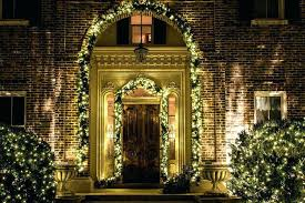D Front Door Garland Hanger With Lights  Christmas