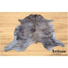 large size 7x6 feet tan light brindle cowhide rug from colombia
