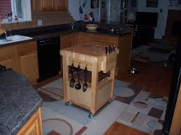 Work Table For Kitchen Wooden Butcher Block Kitchen Cart Design Ideas And Decor