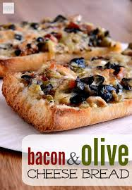 Bacon Olive Cheese Bread Recipe