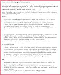 Sample Of Board Meeting Agenda Template Outline Agendas Examples ...