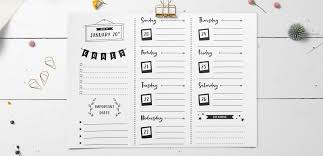 Create A Bullet Journal Weekly Planner Design In Illustrator Every