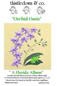 Quilt Patterns and Notions - Thistledown and Company   Thistledown ... & Orchid Oasis applique quilt pattern - Florida album quilt Adamdwight.com