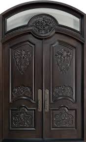 Front Door Custom Double Solid Wood With Espresso Finish - Custom wood exterior doors