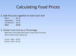 food percentage calculator food cost formula excel discopolis club