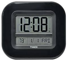 how to set timex alarm clock atomic digital time temp date wall clock timex manual alarm
