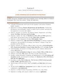 ... Mobile Testing Resume 9 Tester Supriya S 7829382764 Email Sups Riya90  Gmail Com 3 ...