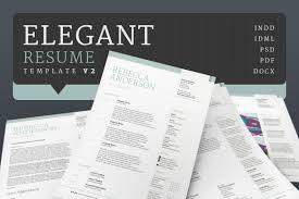 Elegant Resume Elegant ResumeCV V24 Resume Templates Creative Market 3