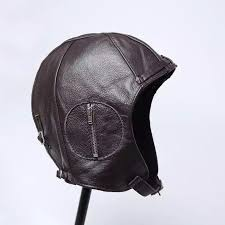 exclusive 2016 man genuine leather fur flight cap male black cowhide unique motorcycle hat