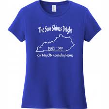District Very Important Tee Size Chart The Sun Shines Bright On My Old Kentucky Home T Shirt