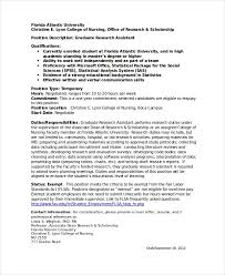 Research Assistant Job Description Resume Research Assistant Resume Template 5 Free Word Excel Pdf