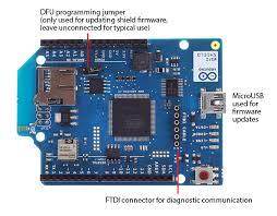 arduino arduinowifishield ports on the wifi shield
