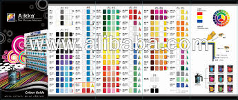 Automotive Paint Color Mixing Chart Aikka Automotive Colour Mixing System Buy Car Paint Color