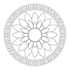 Small Picture Download Simple Flower Mandala Coloring Pages Or Print Within Kids