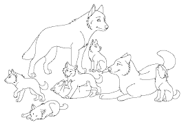 Wolf Pack Coloring Pages Getcoloringpagescom