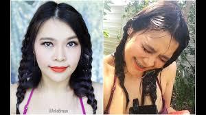 ฮาวทแตงหนากนนำทรงผมเลนนำสงกรานต Waterproof Makeup
