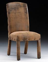 fabric ideas for chairs. arch back brown leather parson chairs for home furniture ideas fabric f