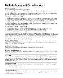 Graduate School Resume Sample Inspiration 60 Sample Graduate School Resumes Sample Templates