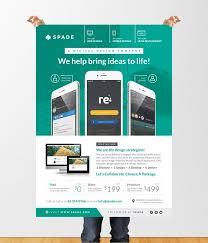 Design Flyer App Design Services Web App Graphic Flyer Poster Template