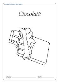 Vei gasi modele noi de masini ce asteapta sa fie colorate. Planse De Colorat Cu Dulciuri Ciocolata