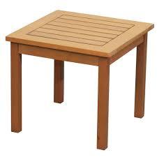 newport wood outdoor side table