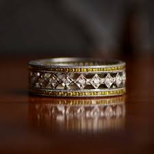 vine wedding band collection