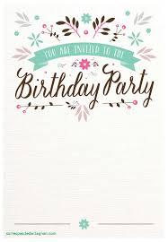 flat fl free printable birthday invitation template best of of st birthday invitation card template of
