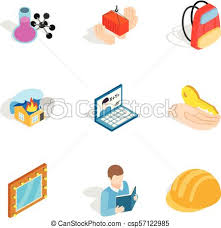 Problem At Work Problem At Work Icons Set Isometric Style Problem At Work Icons