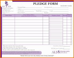 Fundraiser Form Templates Fundraising Form Template Magdalene Project Org