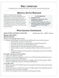 Resume For Medical Office Manager Skinalluremedspa Com