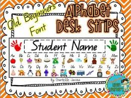 Queensland Cursive Alphabet Chart Qld Beginners Font Alphabet Desk Strips With Numbers