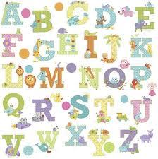 animal alphabet abc letters 43 wall