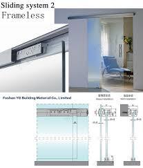 economic frameless folding door 12mm glass door sliding bi fold door