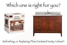 replacing your bathroom vanity cabinet