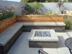 Patio With Square Fire Pit Crawford Outdoor Square Liquid Propane