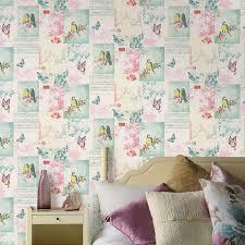 Kids Bedroom Wallpapers Girls Chic Wallpaper Kids Bedroom Feature Wall Decor Various
