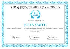 Years Of Service Award Wording 10 Year Service Award Certificate Template Printable Certificate